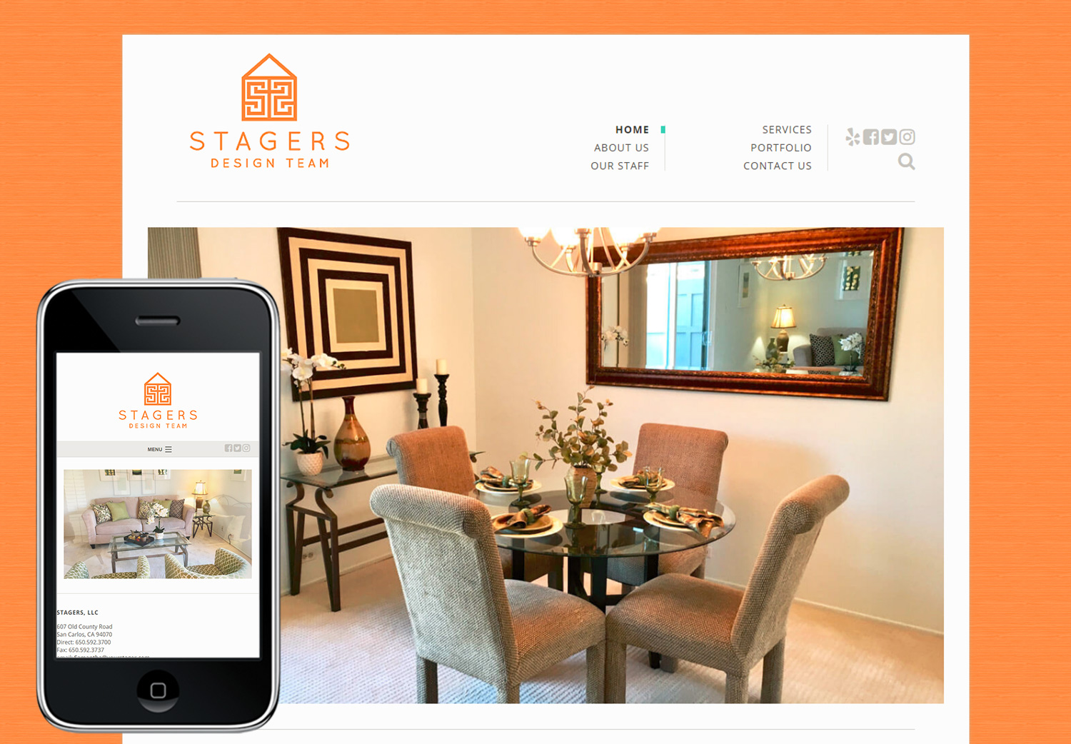 Staging Web Design
